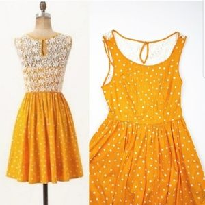 Moulinette Soeurs Anthropologie 4 Yellow Dress dot